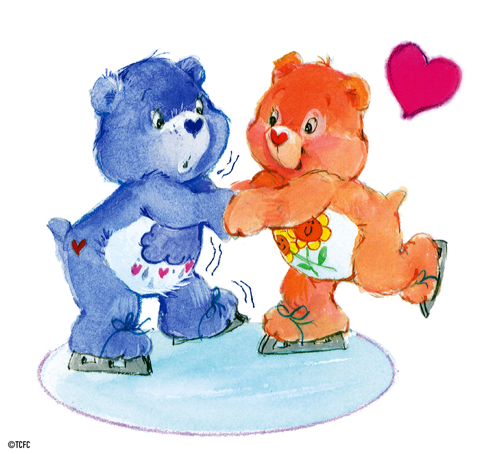 Grumpy bear ice skates with friend bear by american greetings grumpy bear ice skates with friend bear m4hsunfo